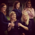 Plassey Trust staff members raise a toast to their new style!