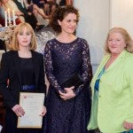 Sinéad with Helen Cody and Nora Finnegan judging the Kenmare Lace Festival  Student Awards, 2015